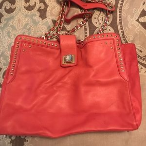 Juicy couture pink leather purse